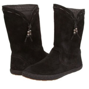 Ugg Black Laurin Suede Boots 7.5